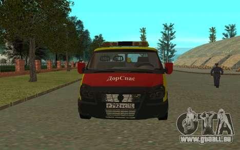 3302 Gazelle dépanneuse Business pour GTA San Andreas laissé vue