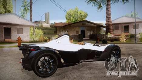 BAC Mono 2011 für GTA San Andreas rechten Ansicht