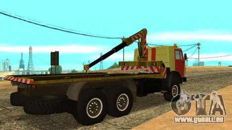 KAMAZ 43114 Abschleppwagen für GTA San Andreas zurück linke Ansicht