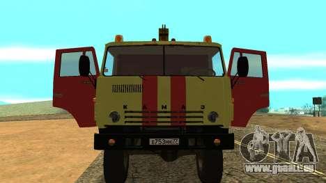 KAMAZ 43114 Abschleppwagen für GTA San Andreas Rückansicht