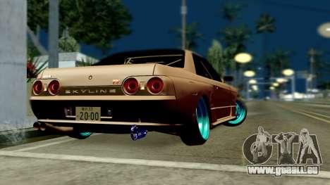 Nissan Skyline R32 Hellaflush pour GTA San Andreas laissé vue