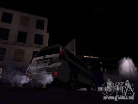 Toyota Land Cruiser POLICE pour GTA San Andreas vue de droite