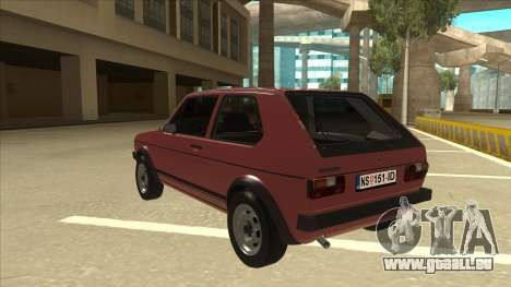 Volkswagen Golf 1 TAS pour GTA San Andreas vue arrière