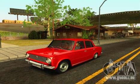BPAN VAZ 2101 pour GTA San Andreas sur la vue arrière gauche