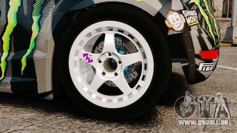 Ford Fiesta Gymkhana 6 Ken Block [Hoonigan] 2013 pour GTA 4 est une vue de l'intérieur