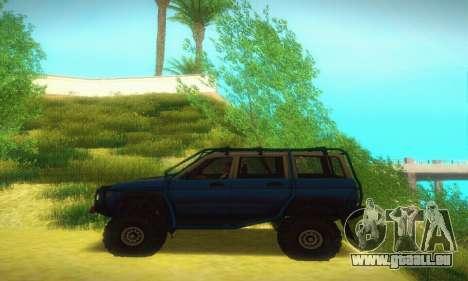 UAZ Patriot pour GTA San Andreas sur la vue arrière gauche