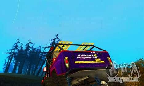 UAZ Hunter Trial pour GTA San Andreas vue de dessus