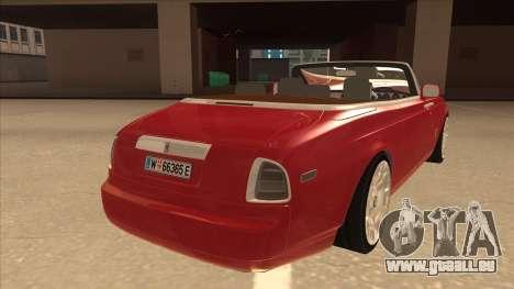 Rolls Royce Phantom Drophead Coupe 2013 pour GTA San Andreas vue de droite