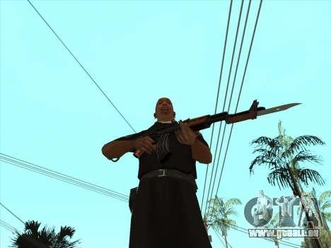 AKMS avec baïonnette-couteau pour GTA San Andreas quatrième écran