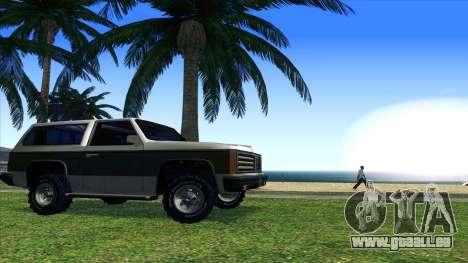 Rancher Bronco pour GTA San Andreas vue arrière