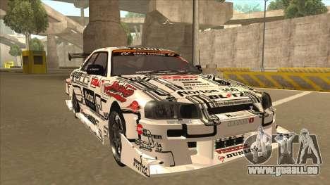 Nissan Skyline ER34 Uras GT Blitz 2009 pour GTA San Andreas laissé vue
