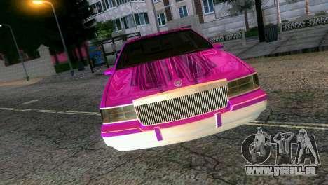 Cadillac Fleetwood Coupe pour une vue GTA Vice City de la droite