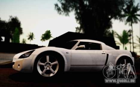 Opel Speedster Turbo 2004 pour GTA San Andreas vue de dessous