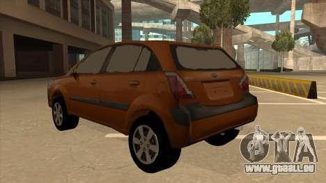 KIA RIO II 5 DOOR für GTA San Andreas Rückansicht