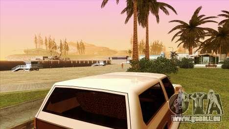 Rancher Bronco pour GTA San Andreas vue intérieure