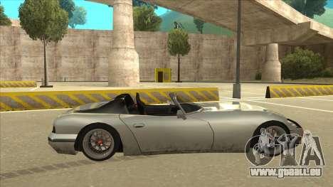 Banshee Stance pour GTA San Andreas sur la vue arrière gauche