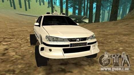 Peugeot 406 Grizzli pour GTA San Andreas laissé vue