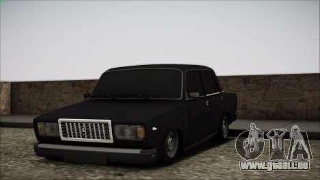 VAZ-2107 für GTA San Andreas Unteransicht