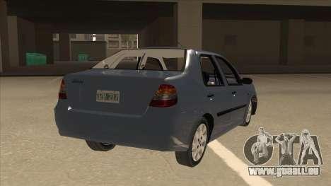 Fiat Siena Ex pour GTA San Andreas vue de droite