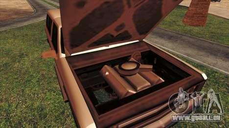 Rancher Bronco pour GTA San Andreas vue de dessus