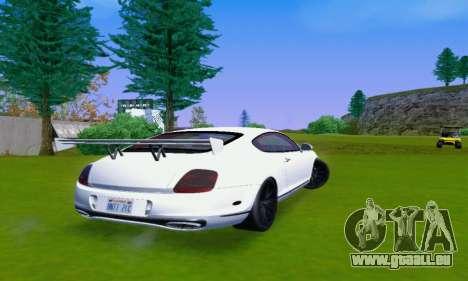 Bentley Continental Extremesports pour GTA San Andreas vue de droite
