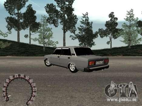 VAZ 2105 für GTA San Andreas zurück linke Ansicht