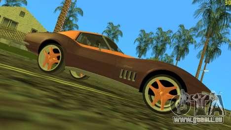 Chevrolet Corvette C3 Tuning pour GTA Vice City sur la vue arrière gauche