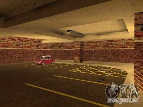Nouveau garage intérieur police HP pour GTA San Andreas sixième écran