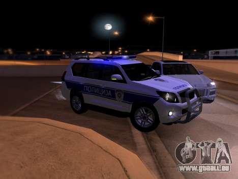 Toyota Land Cruiser POLICE pour GTA San Andreas vue de dessous