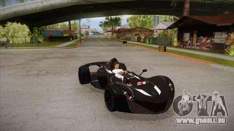BAC Mono 2011 pour GTA San Andreas vue intérieure