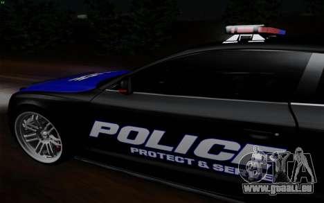 Audi RS5 2011 Police pour GTA San Andreas sur la vue arrière gauche