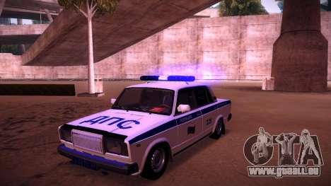 VAZ 2107 Polizei DPS für GTA San Andreas obere Ansicht
