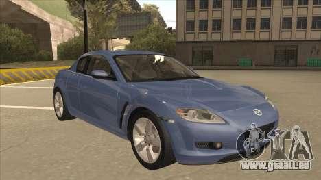 Mazda RX8 Tunable pour GTA San Andreas laissé vue