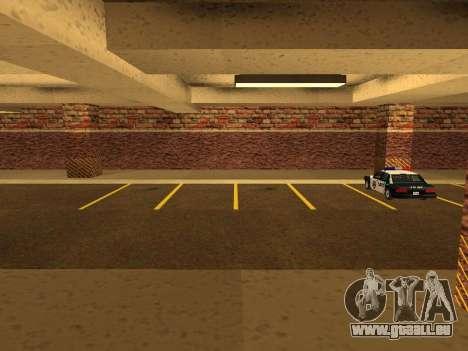 Nouveau garage intérieur police HP pour GTA San Andreas deuxième écran
