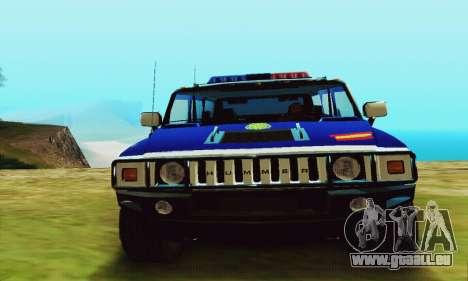 Hummer H2 G.E.O.S. pour GTA San Andreas vue de droite