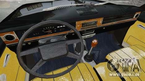 GAZ 2402-4 x 4 pick-up pour GTA 4 est une vue de l'intérieur