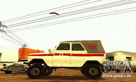 UAZ 469 Krankenwagen für GTA San Andreas linke Ansicht