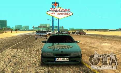 Opel Vectra A pour GTA San Andreas laissé vue