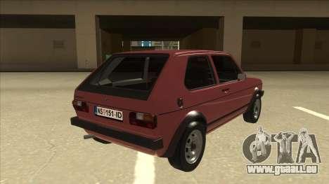Volkswagen Golf 1 TAS pour GTA San Andreas vue de droite