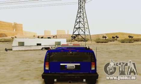 THW Hummer H2 für GTA San Andreas rechten Ansicht