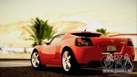 Opel Speedster Turbo 2004 pour GTA San Andreas vue de dessus