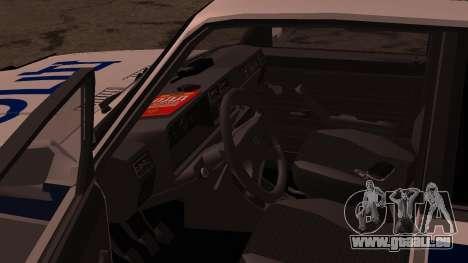 VAZ 2107 Polizei DPS für GTA San Andreas Seitenansicht