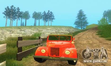 GAZ 69 Pickup pour GTA San Andreas sur la vue arrière gauche