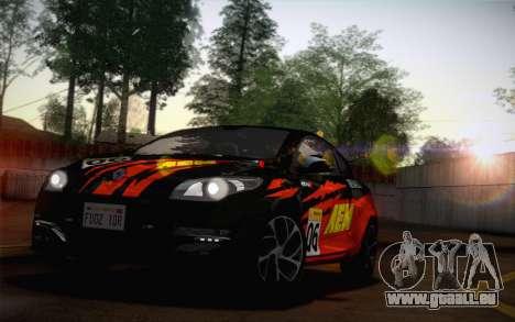 Renault Megane RS Tunable pour GTA San Andreas vue arrière