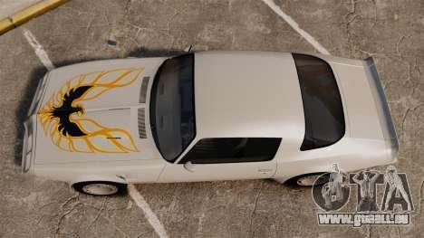 Pontiac Turbo TransAm 1980 pour GTA 4 est un droit