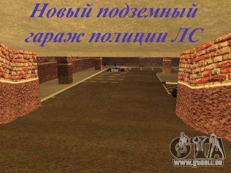 Nouveau garage intérieur police HP pour GTA San Andreas