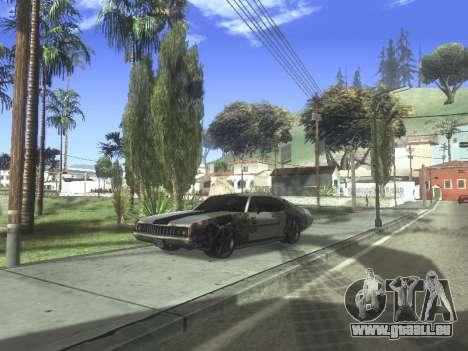 Clover Modified pour GTA San Andreas sur la vue arrière gauche