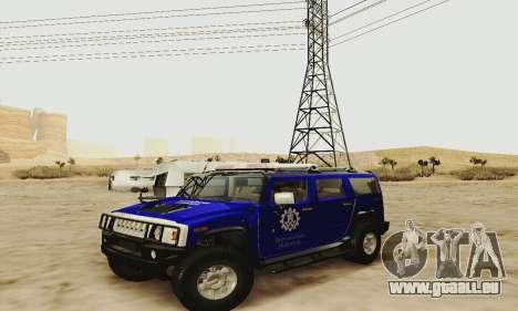 THW Hummer H2 für GTA San Andreas Seitenansicht