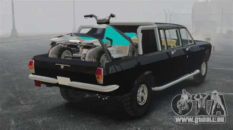 GAZ 2402-4 x 4 Pickup-truck für GTA 4 hinten links Ansicht