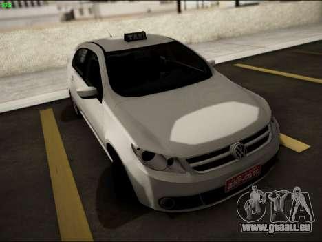 Volkswagen Voyage Taxi für GTA San Andreas Rückansicht